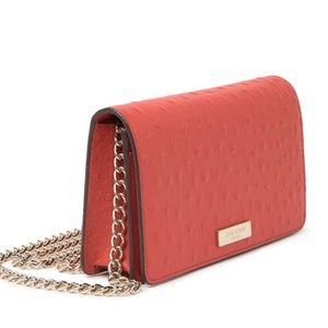 Authentic Kate Spade ostrich leather chain Crosby